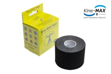 KineMAX SuperPro Cot. kinesiology tape čern.5cmx5m
