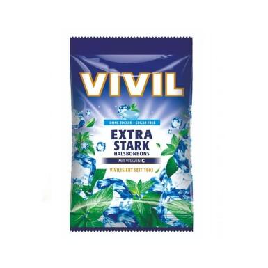 Vivil Extra silný mentol + vit.C bez cukru 60g