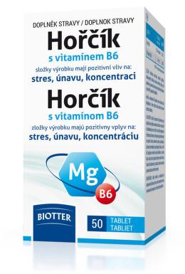 Hořčík 125 mg s vitamínem B6 tbl.50