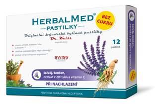 HerbalMed pastilky Dr.Weiss Šalvěj+ženš.vit.C 12