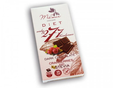 Dark Chocolate 277 with Cranberries and Stevia 80g
