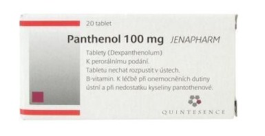 PANTHENOL 100 MG JENAPHARM 100MG neobalené tablety 20