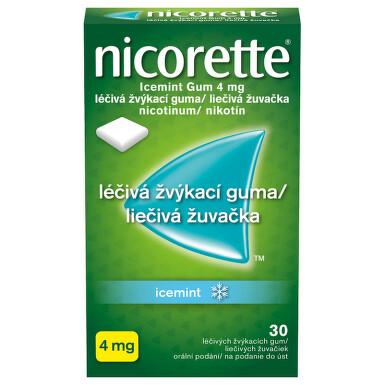 NICORETTE ICEMINT GUM 4 MG orální podání léčivé žvýkací gumy 30X4MG