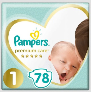 Pampers Premium Value Pack S1 78ks