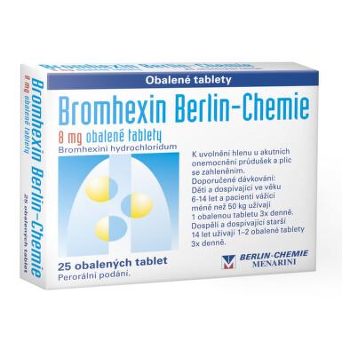 BROMHEXIN 8 BERLIN-CHEMIE perorální obalené tablety 25X8MG