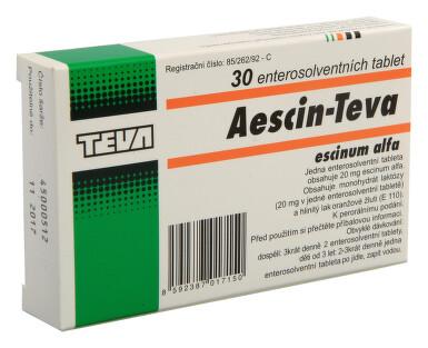 AESCIN-TEVA perorální enterosolventní tableta 30X20MG