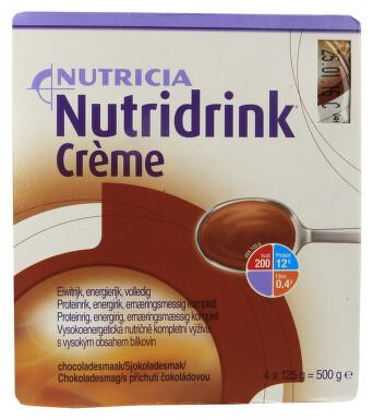 NUTRIDRINK CREME S PŘÍCHUTÍ ČOKOLÁDOVOU perorální roztok 4X125GM
