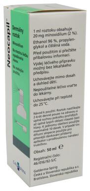 NEOCAPIL kožní podání sprej, roztok 1X50ML+APL