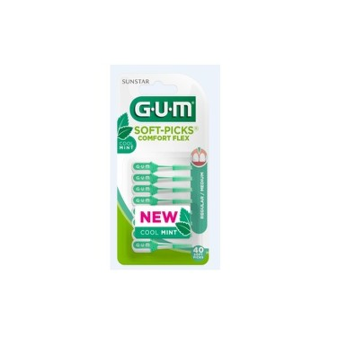 GUM SoftPicks comfort flex Mint 40ks G670M40