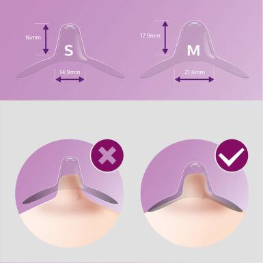 AVENT Chránič prs.bradavek medium 2ks+pouzdro