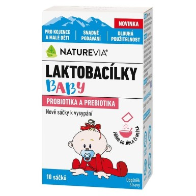 Swiss NatureVia Laktobacílky baby 10 sáčků