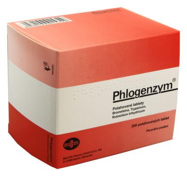 PHLOGENZYM perorální potahované tablety 200
