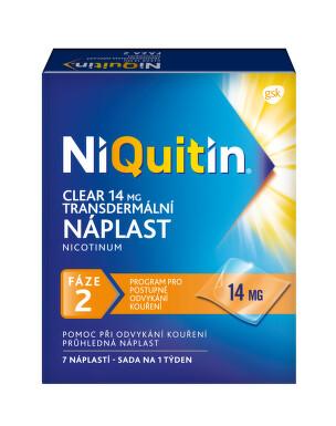 NIQUITIN CLEAR 14 MG DRM EMP transdermální 7X14MG