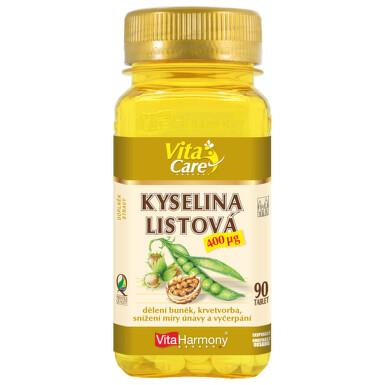 VitaHarmony Kyselina listová tbl.90x400mcg
