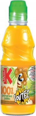 Kubík 100% pomeranč-jablko 300ml PET