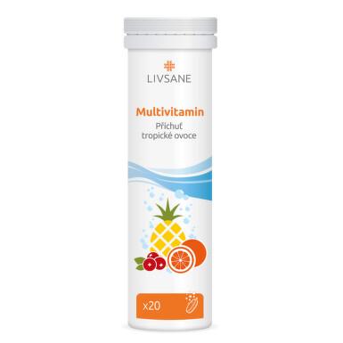 LIVSANE Multivitamin šumivé tablety 20 ks