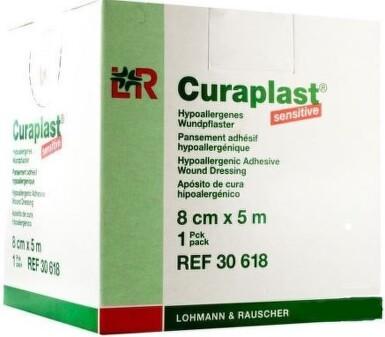 Náplast Curaplast rychloobvaz role 8cm x 5m 1ks