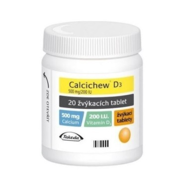 CALCICHEW D3 500MG/200IU žvýkací tableta 20