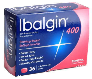 IBALGIN 400 perorální potahované tablety 36X400MG