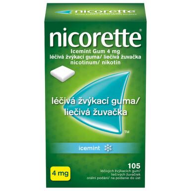 NICORETTE ICEMINT GUM 4 MG orální podání léčivé žvýkací gumy 105X4MG