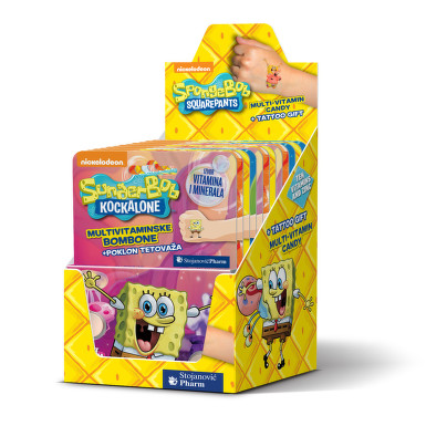 Vieste Multivitamin SpongeBob+tet.box tbl.12x12