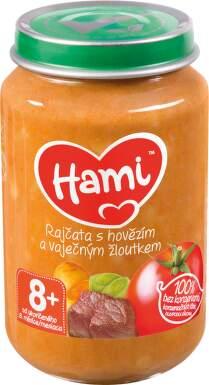 Hami příkrm rajč.+hovězí a vaječný žloutek 200g 8M