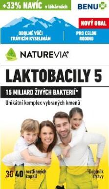 Swiss NatureVia Laktobacily 5 Imunita cps.40 Benu