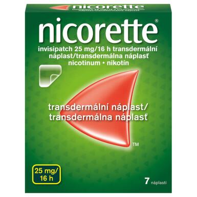 NICORETTE INVISIPATCH 25 MG/16 H kožní podání transdermální náplasti 7X25MG