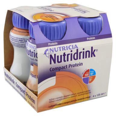 NUTRIDRINK COMPACT PROTEIN S PŘÍCHUTÍ BROSKEV A MANGO perorální roztok 4X125ML