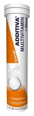 Additiva multivit.+minerál tbl.eff.20 pomeranč