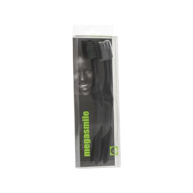 MegaSmile Zubní kartáček Black Whitening 2ks