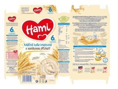 Hami kaše ml.krupicová s vanilkou 225g