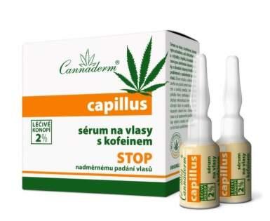 Cannaderm Capillus sérum na vlasy s kofeinem 8x5ml