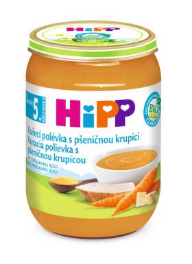 HiPP POLÉVKY BIO Kuřecí s pš.krupicí 190g