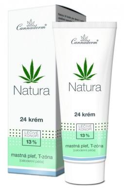 Cannaderm Natura 24 krém na mastnou pleť 75