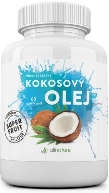 Allnature Kokosový olej kapsle 60