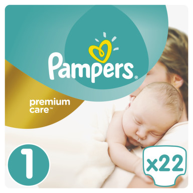 Pampers Premium Care Pack S1 22 ks Newborn