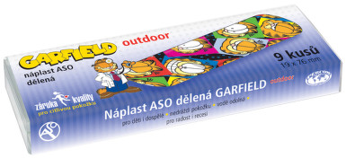 Náplast ASO Garfield OUTDOOR 19x76mm PLS 9ks