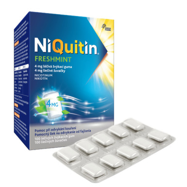 NIQUITIN FRESHMINT 4MG léčivé žvýkací gumy 100 I