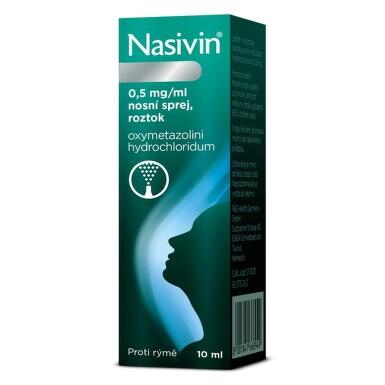 NASIVIN 0,05% nosní podání sprej, roztok 10ML-SK