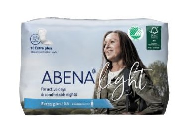 VLOŽKY ABSORPČNÍ ABENA LIGHT EXTRA PLUS 3A 650ML,10KS