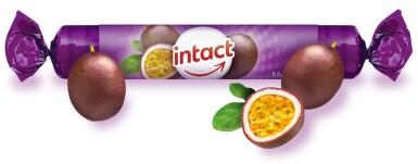 Intact hroznový cukr s vit.C maracuja 40g(rolička)