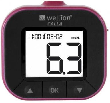 Glukometr Wellion CALLA LIGHT spec.set 50/50červen