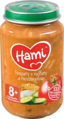 Hami příkrm špagety s rajčaty a mozzarelou 200g 8M