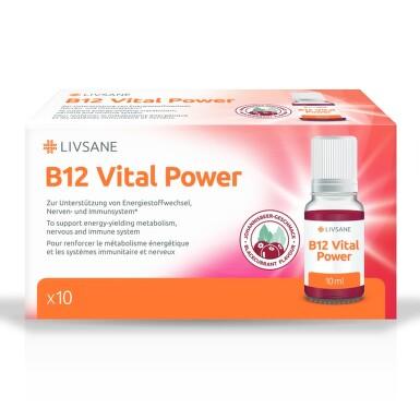 LIVSANE Tekutý B12 Životní síla 10 ampulí