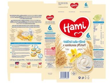 Hami kaše ml.rýžová s vanilkou 225g