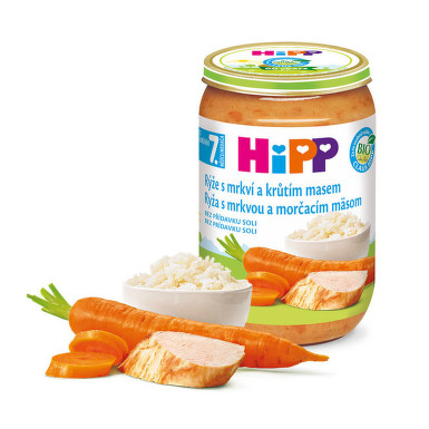 HiPP JUNIOR BIO Rýže s karot.a krůt.m. 220g