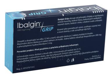 IBALGIN GRIP 200 MG/5 MG perorální potahované tablety 24