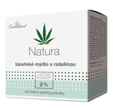 Cannaderm Natura lázeňské mýdlo s rašelinou 80g