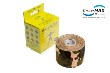 KineMAX SuperPro Cot. kinesiology tape camo 5cmx5m